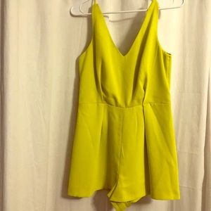 Top Shop lime/yellow dressy romper!